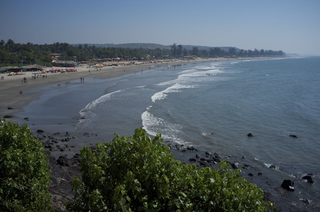 Billede af Arambol Beach Malibu. sea india beach waves goa arambol