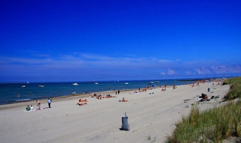 Image of Hornbæk Strand. strand denmark zealand dänemark danmark sundet øresund danemark sund öresund sjælland hornbæk hornbaek själland