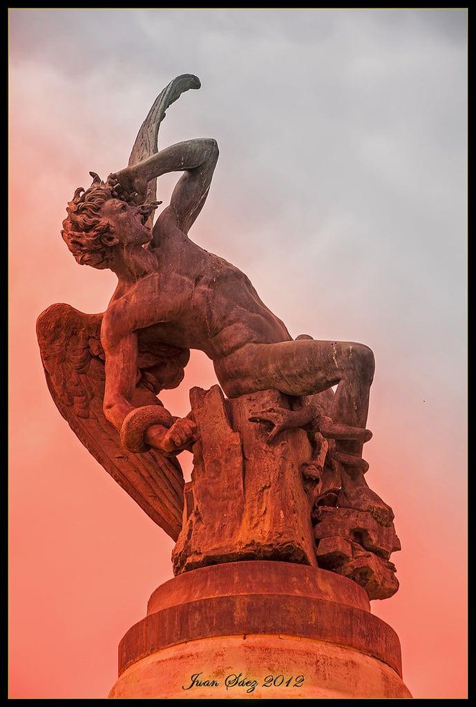 Изображение El Ángel Caído. madrid españa spain diablo infierno satanás angelcaído