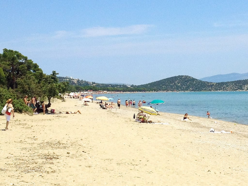 Παραλία Σχοινιά görüntü. beach greece med