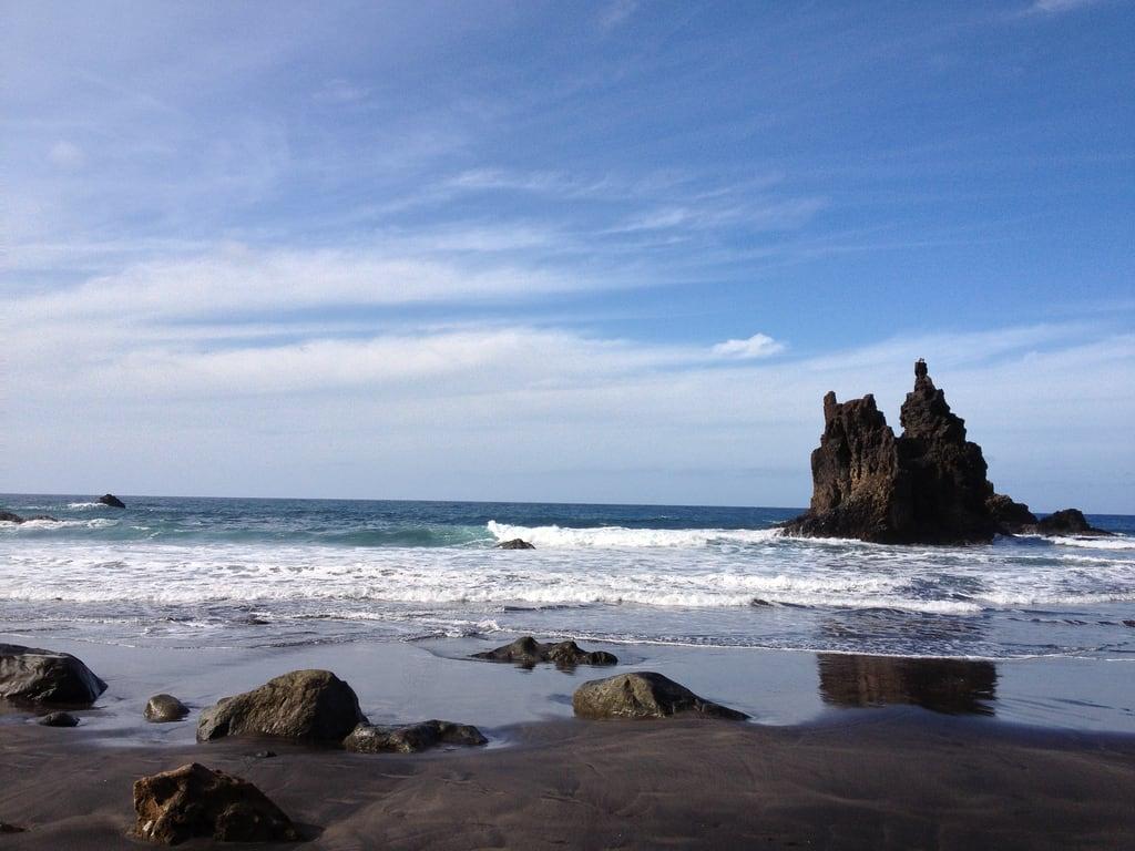 Playa de Benijo görüntü. tenerife espagne ilescanaries santacruzdeténérife