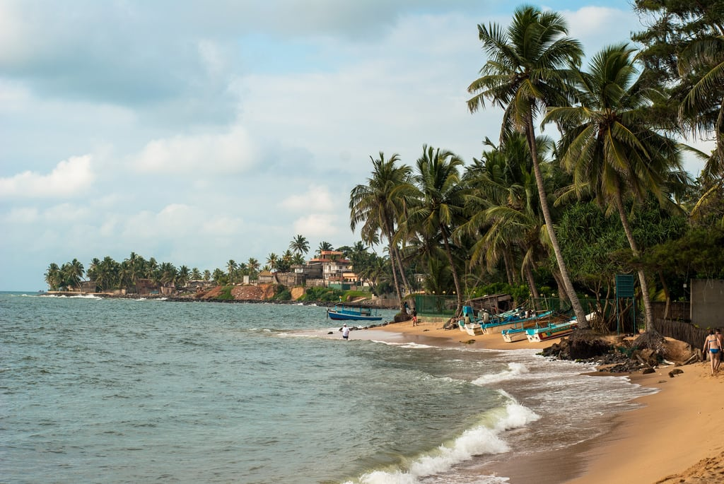 Image of Indian Ocean Beach with a length of 525 meters. srilanka westernprovince beruwala