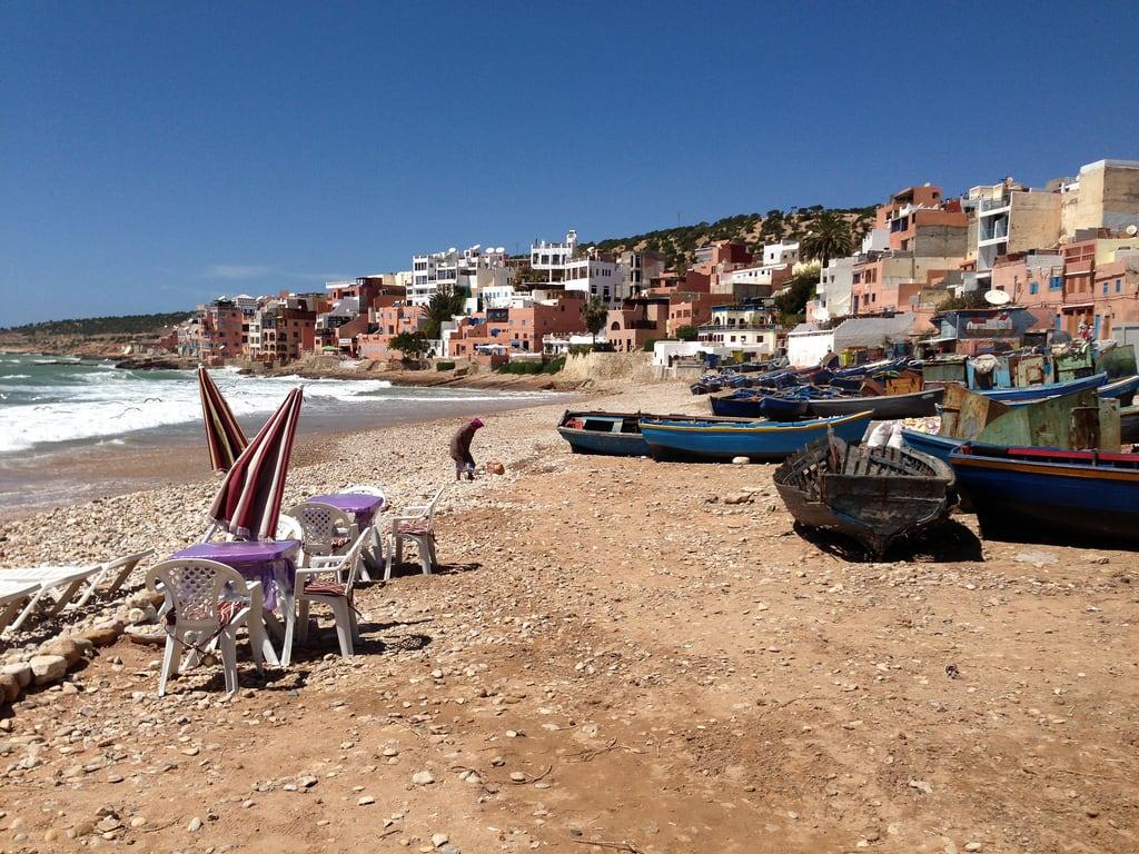 Imagine de Taghazout Sandy beach. beach surf surfing agadir morocco taghazout
