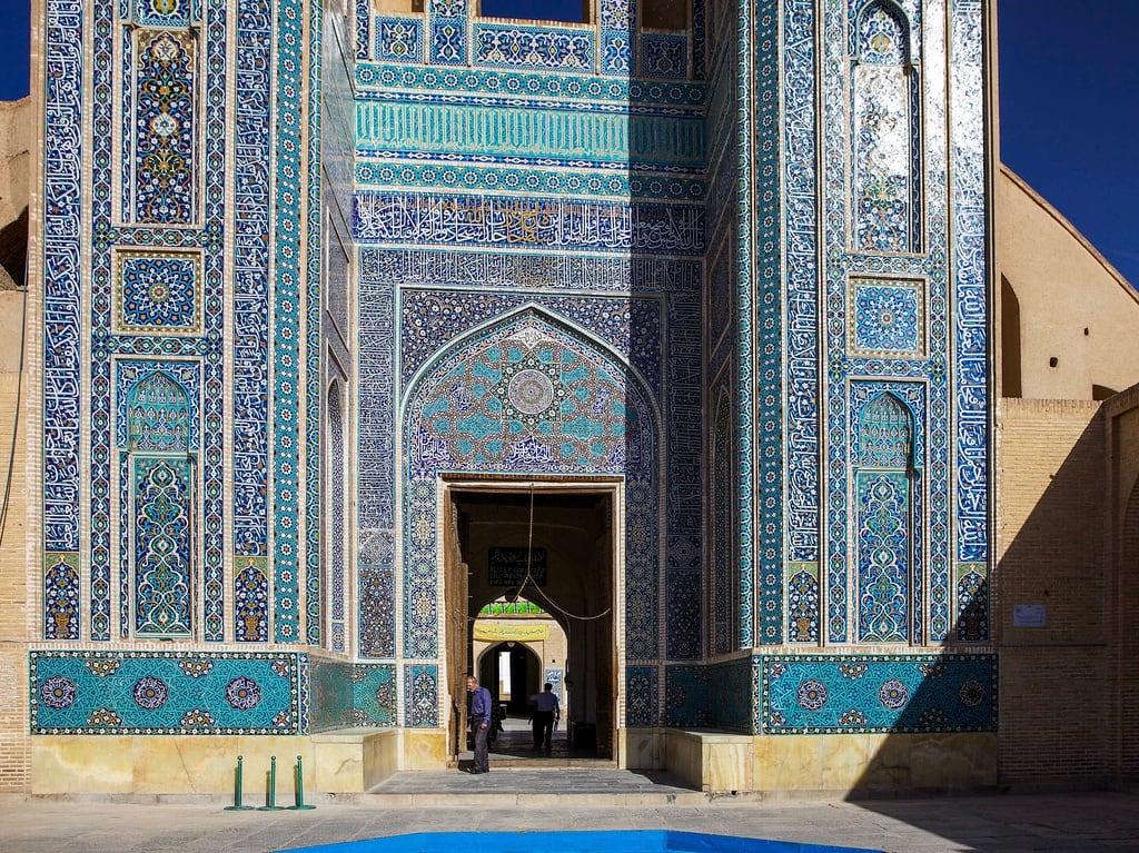 Image of Jameh Mosque. iran mosque yazd masjedejameh