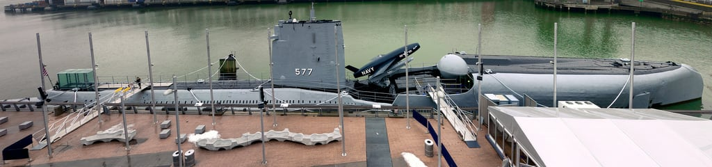 Kuva USS Growler. nyc panorama museum river stitch pano navy submarine regulus intrepid hudson uss missle growler
