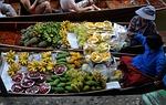 Zdjęcie:   Tajlandia  Bangkok  (owoce, łodzie, gotowania)