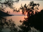 Zdjęcie:   Turcja  Riwiera Turecka  Beldibi  (zachód słońca, wieczorem sky, poświata)